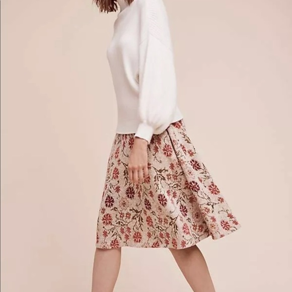 Anthropologie Dresses & Skirts - Anthropologie $188 Meadowlark sweater skirt floral
